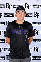 Julio Tamez (7) of Tompkins High School in Katy, Texas during the Baseball Factory All-America Pre-Season Tournament, powered by Under Armour, on January 12, 2018 at Sloan Park Complex in Mesa, Arizona.  (Mike Janes/Four Seam Images)