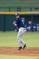 AZL Brewers shortstop Yeison Coca (7) on defense during a game against the AZL Cubs on August 1, 2017 at Sloan Park in Mesa, Arizona. Brewers defeated the Cubs 5-4. (Zachary Lucy/Four Seam Images)
