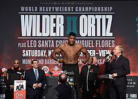 LAS VEGAS - NOVEMBER 22:  Luis Ortiz attends the weigh in for the November 23 fight on the Fox Sports PBC Pay-Per-View Fight Night on November 22, 2019 in. Las Vegas, Nevada. (Photo by Scott Kirkland/Fox Sports/PictureGroup)