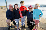 Enjoying a stroll in Ballyheigue on Tuesday, l to r: Lawrence, Padraig and Laura Curtin,  Noreen O'Brien and Alisha Cronin,