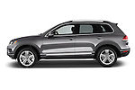 Car Driver side profile view of a 2017 Volkswagen Touareg Executive 5 Door SUV Side View