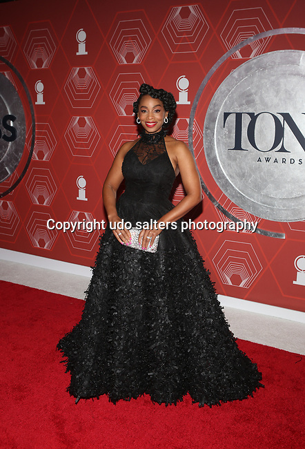 Anika Noni Rose attends the 74th Tony Awards-Broadway's Back! arrivals at the Winter Garden Theatre in New York, NY, on September 26, 2021. (Photo by Udo Salters/Sipa USA)