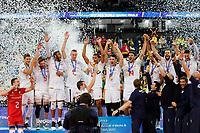 CURITIBA,PR, - 08.07.2017 – BRASIL-FRANÇA – Jogadores da França de vôlei, durante premiação da final da liga mundial de vôlei no estádio Arena da Baixada, em Curitiba neste sábado (08). (Foto: Paulo Lisboa/Brazil Photo Press)