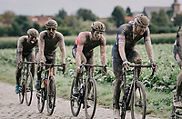 Mathieu van der Poel (NED/Alpecin-Fenix)<br /> <br /> 118th Paris-Roubaix 2021 (1.UWT)<br /> One day race from Compiègne to Roubaix (FRA) (257.7km)<br /> <br /> ©kramon