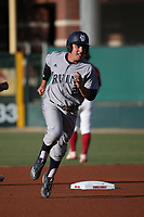Mikey Duarte (21) of the UC Irvine Anteaters runs the bases during a game against the Southern California Trojans at Dedeaux Field on April 18, 2017 in Los Angeles, California. UC Irvine defeated Southern California, 14-3. (Larry Goren/Four Seam Images)