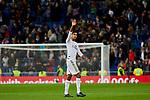 Raphael Varane of Real Madrid after La Liga match between Real Madrid and Real Betis Balompie at Santiago Bernabeu Stadium in Madrid, Spain. November 02, 2019. (ALTERPHOTOS/A. Perez Meca)