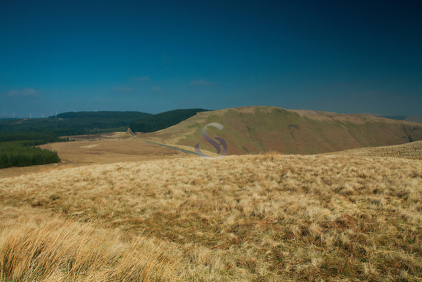 Annanhead Hill from Ericstane Hill and the Annandale Way, Galloway