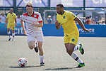 Wallsend Boys Club (in yellow) vs Yau Yee League Masters (in white), during their Masters Tournament match, part of the HKFC Citi Soccer Sevens 2017 on 27 May 2017 at the Hong Kong Football Club, Hong Kong, China. Photo by Chris Wong / Power Sport Images