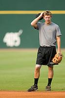 Birmingham Barons second baseman Chris Getz during fielding practice at Hoover Metropolitan Stadium in Birmingham, AL, Saturday, August 19, 2006.