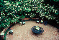 Private circular patio for entertaining by G.Bumgarner, Midwest USA