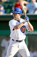 February 29, 2008: Sam Fuld of the Chicago Cubs at Hohokam Park during spring training in Mesa, AZ. Photo by:  Chris Proctor/Four Seam Images