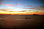 Sunset over the Atlantic Ocean in Casa Pueblo, Punta del Este.