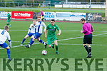 Kerry's Wayne Sparling looks for space while Limericks defence close in during the game between the sides in the Oscar Traynor cup at Mounthawk park, Tralee last Sunday.