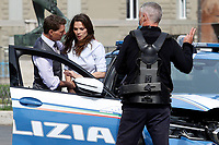 Actor Tom Cruise and actress Hayley Atwell acting on the set of the film Mission Impossible 7 at Imperial Fora in Rome. <br /> Rome (Italy), October 12th 2020<br /> Photo Samantha Zucchi Insidefoto