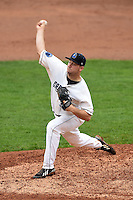 Lake County Captains pitcher Dace Kime (35) delivers a pitch during a game against the Dayton Dragons on June 8, 2014 at Classic Park in Eastlake, Ohio.  Lake County defeated Dayton 4-2.  (Mike Janes/Four Seam Images)