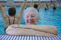 Senior Citizens aquatics class, Riverside YMCA, Burlington, Burlington County, New Jersey