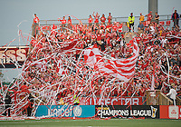 29 July 2009: Toronto FC fans show their support  during a CONCACAF game at BMO Field in Toronto between the Puerto Rico Islanders and Toronto FC..The Puerto Rico Islanders won 1-0..