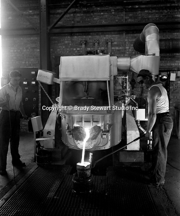 """Client: Swindell Dressler Corporation <br /> Ad Agency: George Ketchum Advertising<br /> Contact: George Ketchum<br /> Product: Car type Electric Heat Treating Furnace<br /> Location: Swindell Dressler factory in Pittsburgh <br /> <br /> On location photography for the newly merged Swindell Brothers and American Dressler companies.  The new Swindell Electric Melting Furnace in operation.  All the Swindell negatives are 8""""x10"""" and still in great condition in 2020.<br /> <br /> Swindell Dressler International Company was based in Pittsburgh, Pennsylvania. The company was founded by Phillip Dressler in 1915 as American Dressler Tunnel Kilns, Inc.  In 1930, American Dressler Tunnel Kilns, Inc. merged with William Swindell and Brothers to form Swindell-Dressler Corporation. The Swindell brothers designed, built, and repaired metallurgical furnaces for the steel and aluminum industries. The new company offered extensive heat-treating capabilities to heavy industry worldwide."""