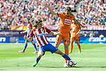 Atletico de Madrid's Filipe Luis and SD Eibar's Gonzalo Escalante during Liga Liga match between Atletico de Madrid and SD Eibar at Vicente Calderon Stadium in Madrid, May 06, 2017. Spain.<br /> (ALTERPHOTOS/BorjaB.Hojas)