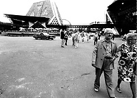 MONTREAL, CANADA - File Photo - People visit  TERRE DES HOMMES : site of Expo 67, in the seventies.<br /> <br /> <br /> File Photo : Agence Quebec Presse - Alain Renaud