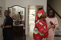 Minister of fisheries at his home.  His name is Ditbo Ka and he is in photographs with his wife and his niece.  His niece is our contact, she works as head of human relations at Senevisa, which is the largest shipping company operating in Senegal.  Her name is Niama Diarra Sarr and her contact info is:.niamasarr@vieirasa.sn  phone is +221 889 6868 and her mobile is +221 633 99 72.  There are photographs of the three together and also when he is receiving groups of students that are loyal to him and his political party...Industrialized fishermen pay a license to fish, but then there is no limit for how much they can catch.  The artesenal fishermen are not regulated in any way.  The govt is realizing they have to have some control and banned fishing in November and are opening 5 MPA's...600,000 Senegalese participate in the fishing industry.  When you multiply that number times the 6 or 7 kids they each have and other dependents, you can see that this is a significant percentage of the 12 million Senegalese.  Eighty percent of the fish caught are caught by artesinal fishermen.