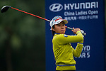 Hsuan-Ping Chang of Chinese Taipei in action during the Hyundai China Ladies Open 2014 on December 12 2014, in Shenzhen, China. Photo by Xaume Olleros / Power Sport Images