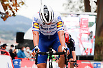 Zdenek Stybar (CZE) Deceuninck-Quick Step crosses the finish line in 3rd place at the end of Stage 14 of the Vuelta Espana 2020, running 204.7km from Lugo to Ourense, Spain. 4th November 2020. <br /> Picture: Luis Angel Gomez/PhotoSportGomez | Cyclefile<br /> <br /> All photos usage must carry mandatory copyright credit (© Cyclefile | Luis Angel Gomez/PhotoSportGomez)