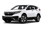 Stock pictures of low aggressive front three quarter view of 2020 Honda CR-V LX 5 Door SUV Low Aggressive