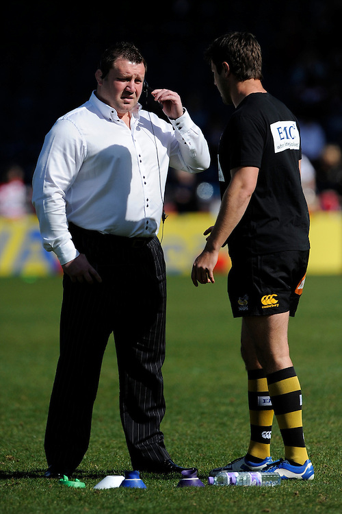 Dai Young, London Wasps Director of Rugby, during the Aviva Premiership match between London Wasps and Gloucester Rugby at Adams Park on Sunday 1st April 2012 (Photo by Rob Munro)