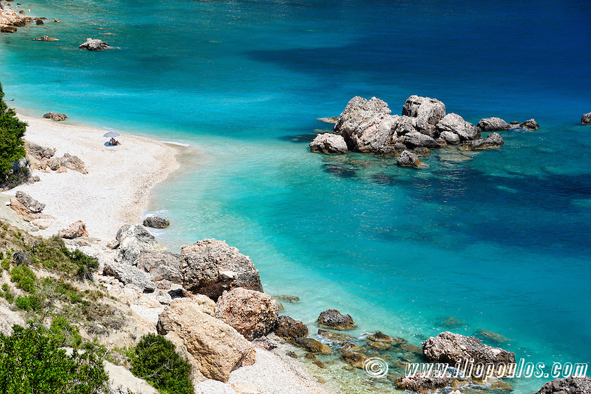 The beach Vouti in Kefalonia island, Greece