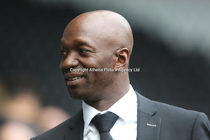 Swansea City assistant manager Claude Makelele prior to kick off of the Premier League match between Swansea City and Newcastle United at The Liberty Stadium, Swansea, Wales, UK. Sunday 10 September 2017