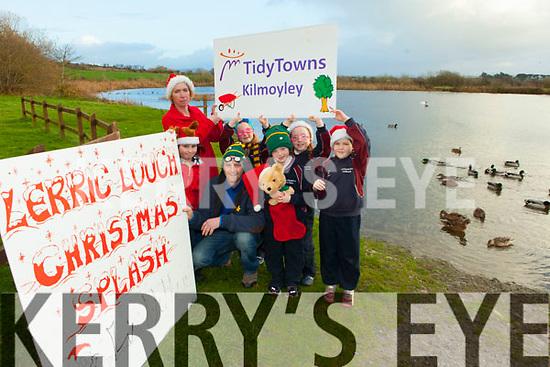 Getting ready for the Kilmoyley Tidy Towns Christmas Day Splash at Lerrig Lough were: Padraig Regan, Rachel Flaherty, Caoimhe Regan, Clodagh Regan, Grainne Carroll, Aoibhe Kearney and Phil Flaherty.