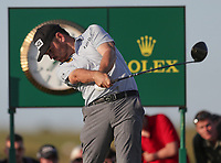 17th July 2021; Royal St Georges Golf Club, Sandwich, Kent, England; The Open Championship, PGA Tour, European Tour Golf, Day Three; Louis Oosthuizen (RSA) hits his driver from the tee at the 17th hole