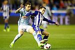 Deportivo Alaves' Ibai Gomez (r) and Celta de Vigo's Hugo Mallo during Spanish Kings Cup semifinal 2nd leg match. February 08,2017. (ALTERPHOTOS/Acero)