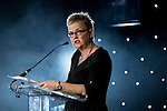 © Joel Goodman - 07973 332324 . 03/03/2016 . Manchester , UK . Fran Eccles-Bech hosting the ceremony . The Manchester Legal Awards from the Midland Hotel . Photo credit : Joel Goodman