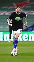 16th March 2021; Cardiff City Stadium, Cardiff, Glamorgan, Wales; English Football League Championship Football, Cardiff City versus Stoke City; Aden Flint of Cardiff City warms up before the game