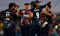 Kent players celebrate victory over Gloucestershire during Kent Spitfires vs Gloucestershire, Vitality Blast T20 Cricket at The Spitfire Ground on 13th June 2021