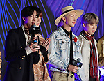 Members of South Korean K-Pop group BTS attend the photo call during the 2019 MAMA(Mnet Asian Music Awards) at the Nagoya Dome in Nagoya, Aichi-Prefecture, Japan on December 4, 2019. (Photo by AFLO)