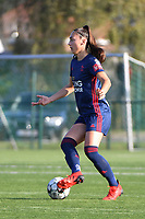 Amber Tysiak (3) of OH Leuven pictured during a female soccer game between SV Zulte - Waregem and Oud Heverlee Leuven on the sixth matchday of the 2021 - 2022 season of Belgian Scooore Womens Super League , saturday 9 of October 2021  in Zulte , Belgium . PHOTO SPORTPIX | DIRK VUYLSTEKE