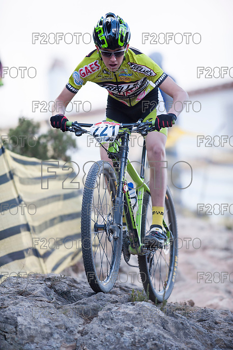 Chelva, SPAIN - MARCH 6: Pau Costa during Spanish Open BTT XCO on March 6, 2016 in Chelva, Spain