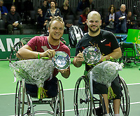 Februari 13, 2015, Netherlands, Rotterdam, Ahoy, ABN AMRO World Tennis Tournament, Stefan Olsson (SWE) / Nicolas Peifer (FRA)<br /> Photo: Tennisimages/Henk Koster