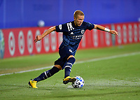 LAKE BUENA VISTA, FL - JULY 26: Anton Tinnerholm of New York City FC cuts inside with the ball from the wing during a game between New York City FC and Toronto FC at ESPN Wide World of Sports on July 26, 2020 in Lake Buena Vista, Florida.