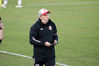 RICHMOND, VA - SEPTEMBER 30: Assistant coach Vadim Kirillov of New York Red Bulls II calls for a substitution during a game between North Carolina FC and New York Red Bulls II at City Stadium on September 30, 2020 in Richmond, Virginia.