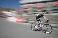 Luke Rowe (GBR/SKY) over the top of the Col du Tourmalet (HC/2115m/17km/7.3%)<br /> <br /> st11: Pau - Cauterets (188km)<br /> 2015 Tour de France