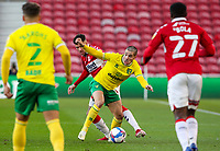 Norwich City's Emi Buendia vies for possession with Middlesbrough's Marvin Johnson<br /> <br /> Photographer Alex Dodd/CameraSport<br /> <br /> The EFL Sky Bet Championship - Middlesbrough v Norwich City - Saturday 21st November 2020 - Riverside Stadium - Middlesbrough<br /> <br /> World Copyright © 2020 CameraSport. All rights reserved. 43 Linden Ave. Countesthorpe. Leicester. England. LE8 5PG - Tel: +44 (0) 116 277 4147 - admin@camerasport.com - www.camerasport.com