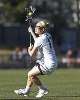 Boston College midfielder Mikaela Rix (17) on the attack.