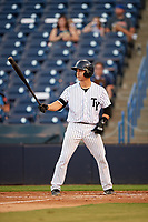 Tampa Yankees catcher Sharif Othman (62) at bat during a game against the Palm Beach Cardinals on July 25, 2017 at George M. Steinbrenner Field in Tampa, Florida.  Tampa defeated Palm beach 7-6.  (Mike Janes/Four Seam Images)