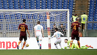 Napoli's Dries Mertens, center, scores his second goal during the Italian Serie A football match between Roma and Napoli at Rome's Olympic stadium, 4 March 2017. <br /> UPDATE IMAGES PRESS/Isabella Bonotto