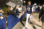 Nevada's Hasaan Henderson (12) interacts with fans after losing to Colorado State in an NCAA college football game in Reno, Nev., on Saturday, Oct. 11, 2014. Colorado State defeated Nevada 31-24. Henderson was called on an offensive pass interference call in the final seconds of the game. (AP Photo/Cathleen Allison)