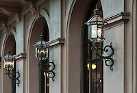 Lamp detail of the Philadelphia Academy of Music, Broad Street, Philadelphia, PA, USA